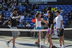 """Maria Sharapova and Friends"" opened with a mixed doubles"