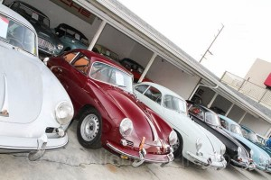 Great line up of Porsches