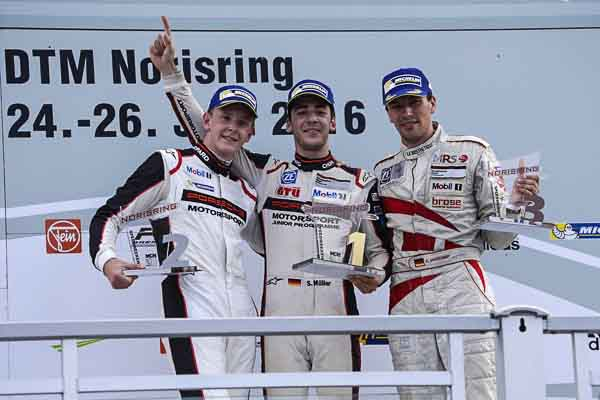 The podium at the Norisring
