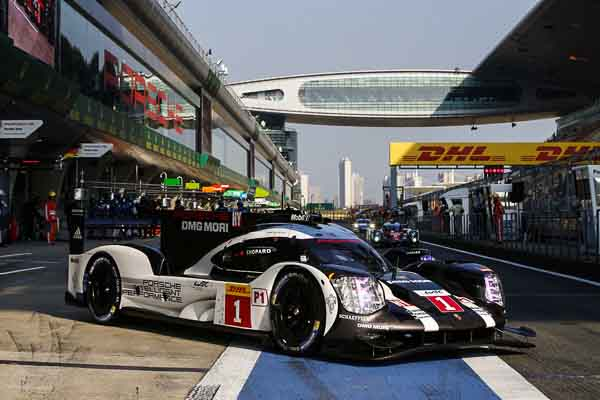 The Porsche 919 Hybrid takes pole position in Shanghai