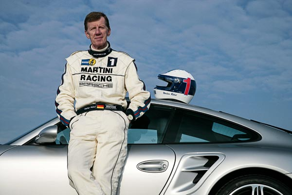 December 2007: Walther Röhrl and a 911 Turbo 3,6 Coupé (997).
