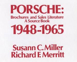 Porsche: Brochures and Sales Literature -A Source Book, 1948-1965 Book Cover