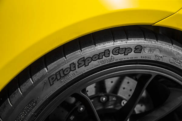 Production tyres of the new Porsche 911 GT3: Michelin Sport Cup 2 N1