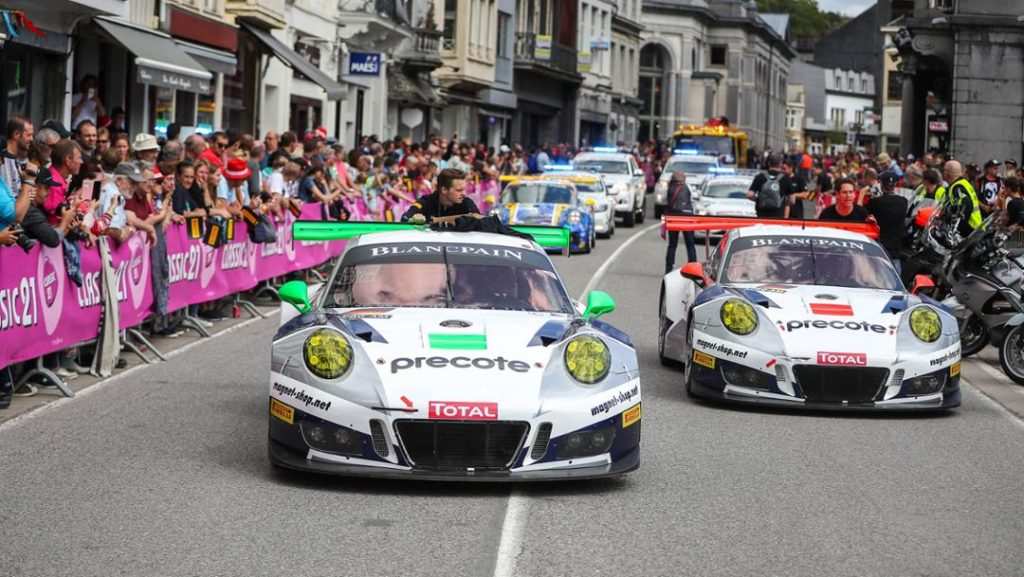 The two 911 GT3 R of Team Herberth Motorsport