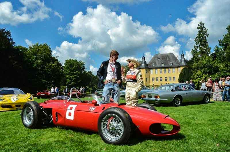 Walter Röhrl and Arturio Merzario with the Ferrari Sharknose Classic Days Schloss Dyck 2017