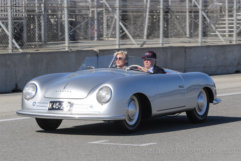 Wolfgang Porsche drives the Porsche 356 Number 1