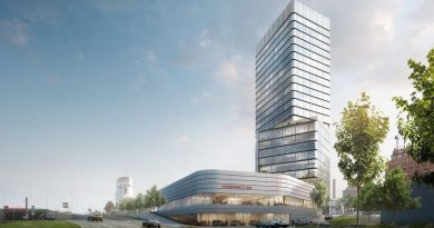Porsche Design Tower and new Porsche Centre at the Pragsattel in Stuttgart