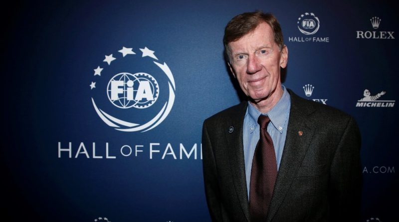 Walter Röhrl after he was inducted to the FIA Hall of Fame