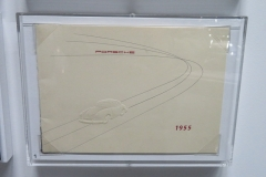 A rare 1955 Porsche greeting card, very collectible as any early Porsche literature
