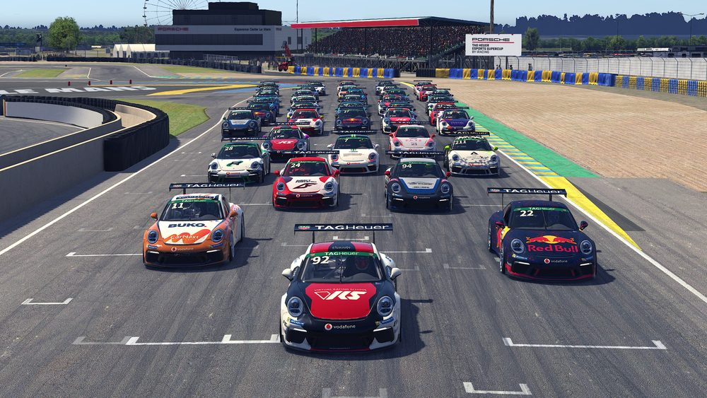 photo of Home race for six British sim racers at 3rd round of the Porsche TAG Heuer Esports Supercup in Donington image