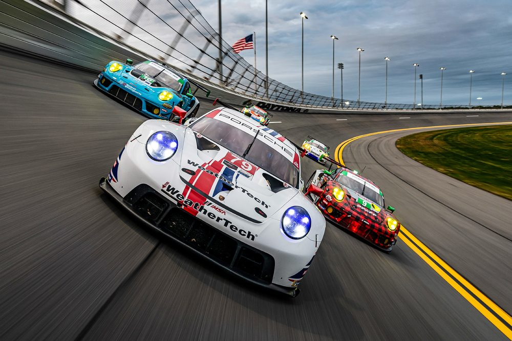 photo of Strong qualifying results for Porsche customers team at the Roar before the Daytona 24H in both GTLM and GTLD class. image