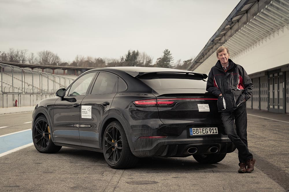 photo of Walter Röhrl tests new high-performance model in the Cayenne product line image