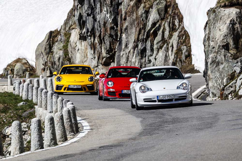Porsche 911 GT3: three generations of the 996.2, 997.2 and 991.2