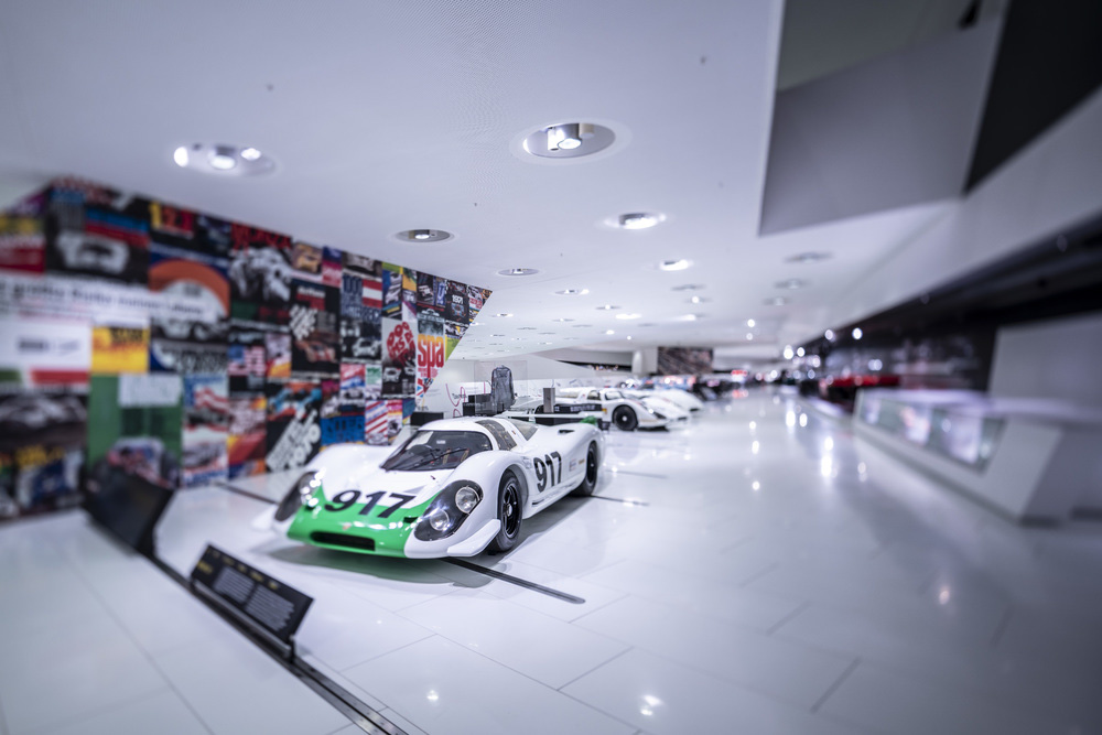The first Porsche 917 was unveiled at the Geneva Motor Show on 12 March 1969.