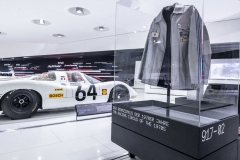 Various exhibits represent the Porsche 917's success in racing.