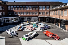 "Historical staging of the 917 at ""Werk 1\"" in Zuffenhausen - where the race department was situated back in the days."