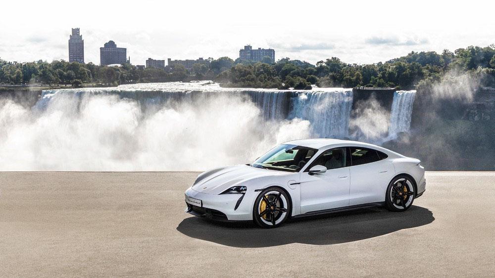 World premiere of the new Porsche Taycan in North America 2019