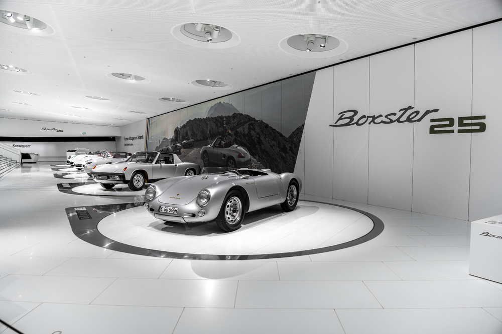 The Porsche Museum celebrates 25 Years of the Boxster with a special show presented digitally.
