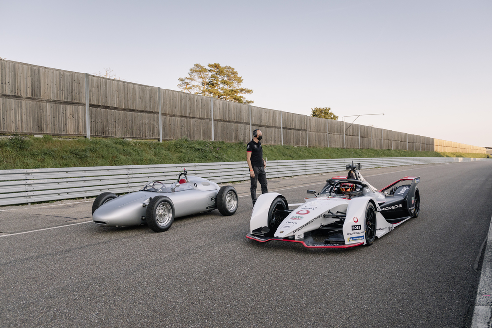 Thats-Porsche-Formula-racing-then-and-now-side-by-side.-The-718-Formula-2-from-1960-left-and-the-99X-Electric-right.