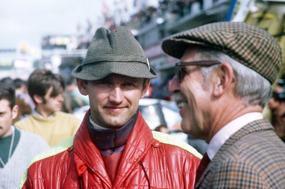Ferdinand Piëch and Huschke v. Hanstein in 1968 at Le Mans.