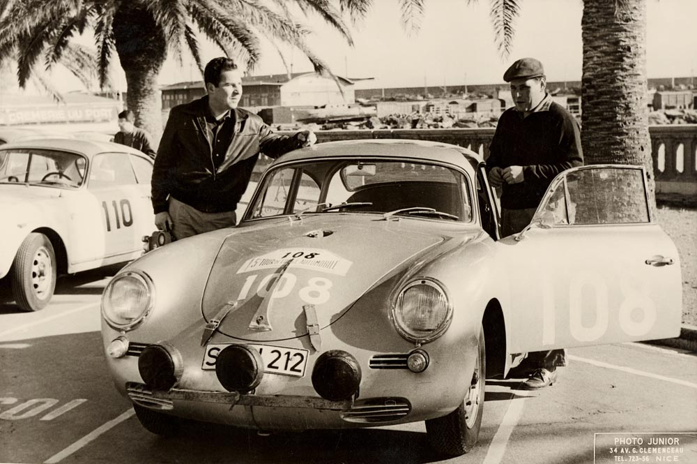 5th -8th November 1960: 5. Tour de Corse. Paul Ernst Strähle (left) and Herbert Linge (right) in the 356 B Carrera 1600 GT