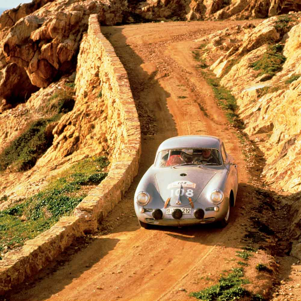Tour de Corse 1960: Paul Ernst Strähle and Herbert Linge did win in the 356 B 1600 GS Carrera GT (1600ccm-Carrera-Motor)