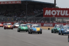Lots of 1956 Porsche 911s in the Porsche Classic Le Mans race