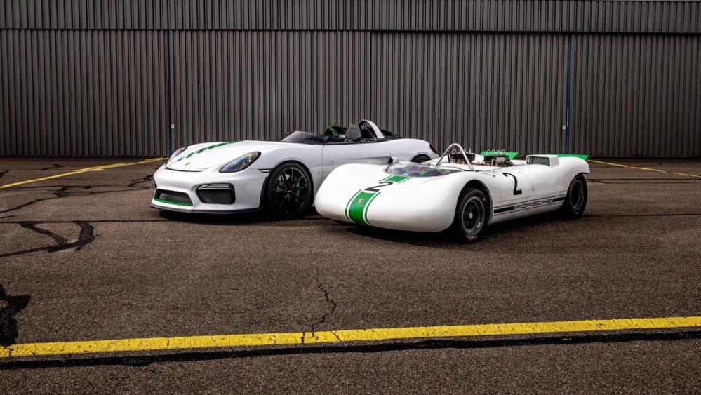 Porsche Boxster Bergspyder and Porsche 909 Bergspyder