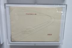 A rare 1955 Porsche greeting card, very collectible as any early Porsche literature